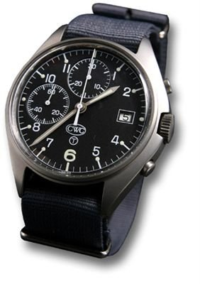 Cwc mechanical chronograph military grade watch with date for Military grade watches