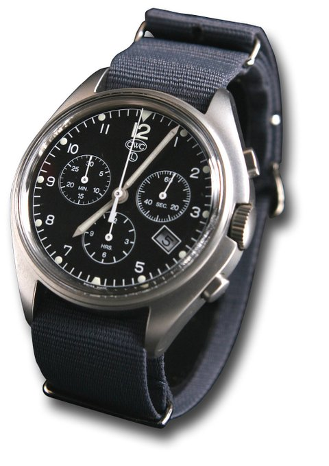 CWC Quartz Chronograph Military Watch with date