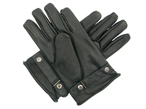 Begadi-Leather-gloves-full-grain-leather-lined-with-fleece-German-Army-Style-black-0