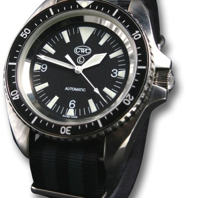 CWC Royal Navy Automatic Divers Watch silver non-date (2)