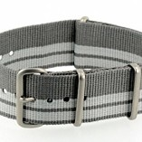 G10-NATO-MOD-Military-style-Nylon-Watch-Strap-20mm-Coice-of-Colours-GreyWhite-0