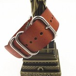 Genuine-Leather-Military-NATO-MOD-Watch-Strap-Various-Colours-and-Sizes-Brown-20mm-0-0