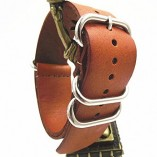 Genuine-Leather-Military-NATO-MOD-Watch-Strap-Various-Colours-and-Sizes-Brown-20mm-0-1