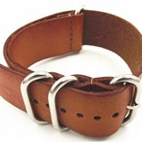 Genuine-Leather-Military-NATO-MOD-Watch-Strap-Various-Colours-and-Sizes-Brown-20mm-0-2