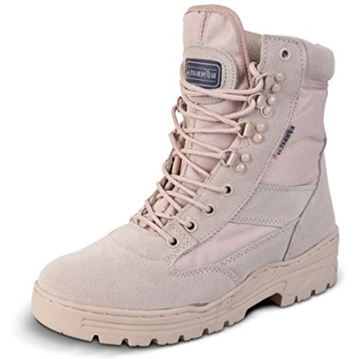 Mens-Desert-Army-Combat-Military-Patrol-Tan-Work-Lightweight-Suede-Leather-Boot-UK-10-0