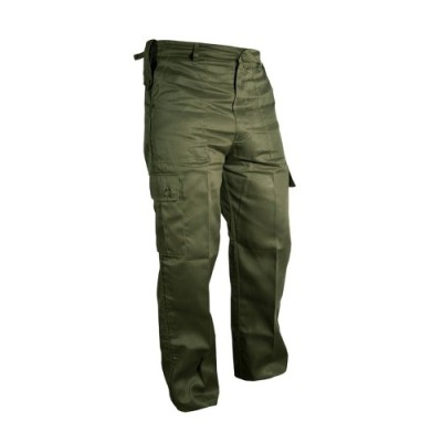 Mens-Military-Adjustable-Combat-Cargo-Trousers-40-Olive-Green-0