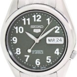 Seiko-Mens-SNK379K-Silver-Stainless-Steel-Quartz-Watch-with-Green-Dial-0