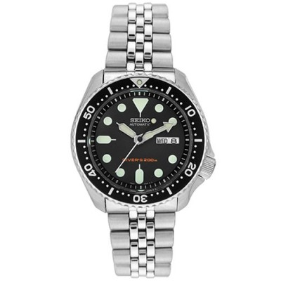 Seiko-skx007k-2-5-Divers-Sports-Mens-Automatic-Watch-Analogue-Black-Dial-Steel-Strap-Grey-0